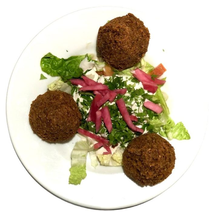 Falafel 3 pièces (boulettes de pois chiche, fèves et épices)