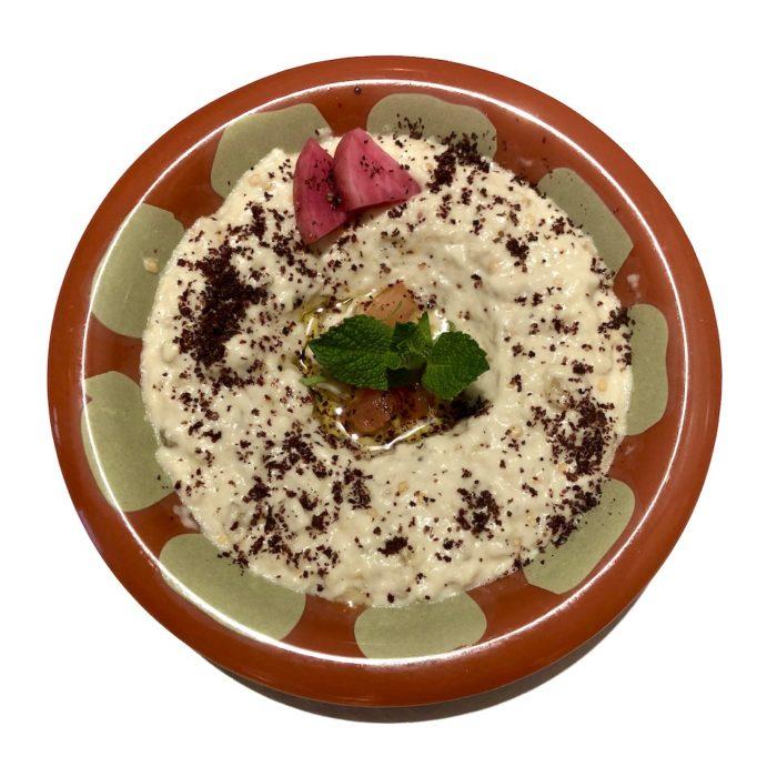 Baba Ghannouge (purée d'aubergines, huile de sésame)