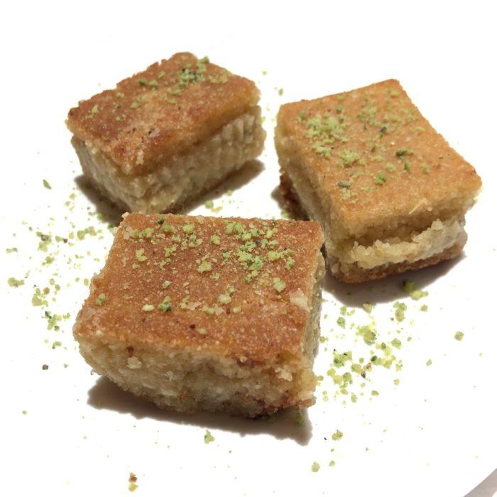 Basma 3 pièces (semoule et pistaches à la fleur d'oranger)